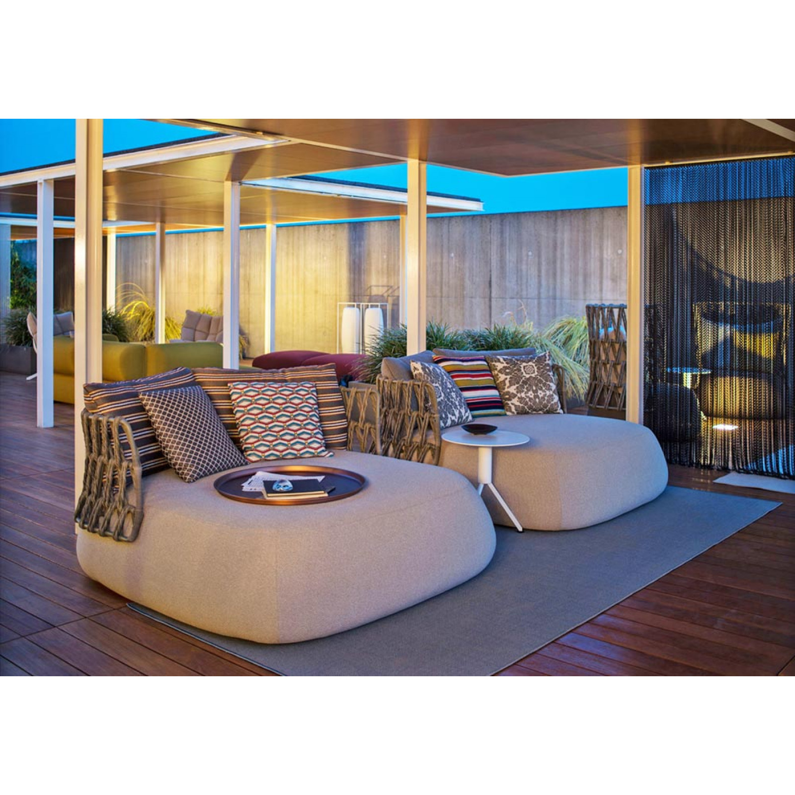 B&B Italia Fat Outdoor Loungegruppe, Fat Gartensofas