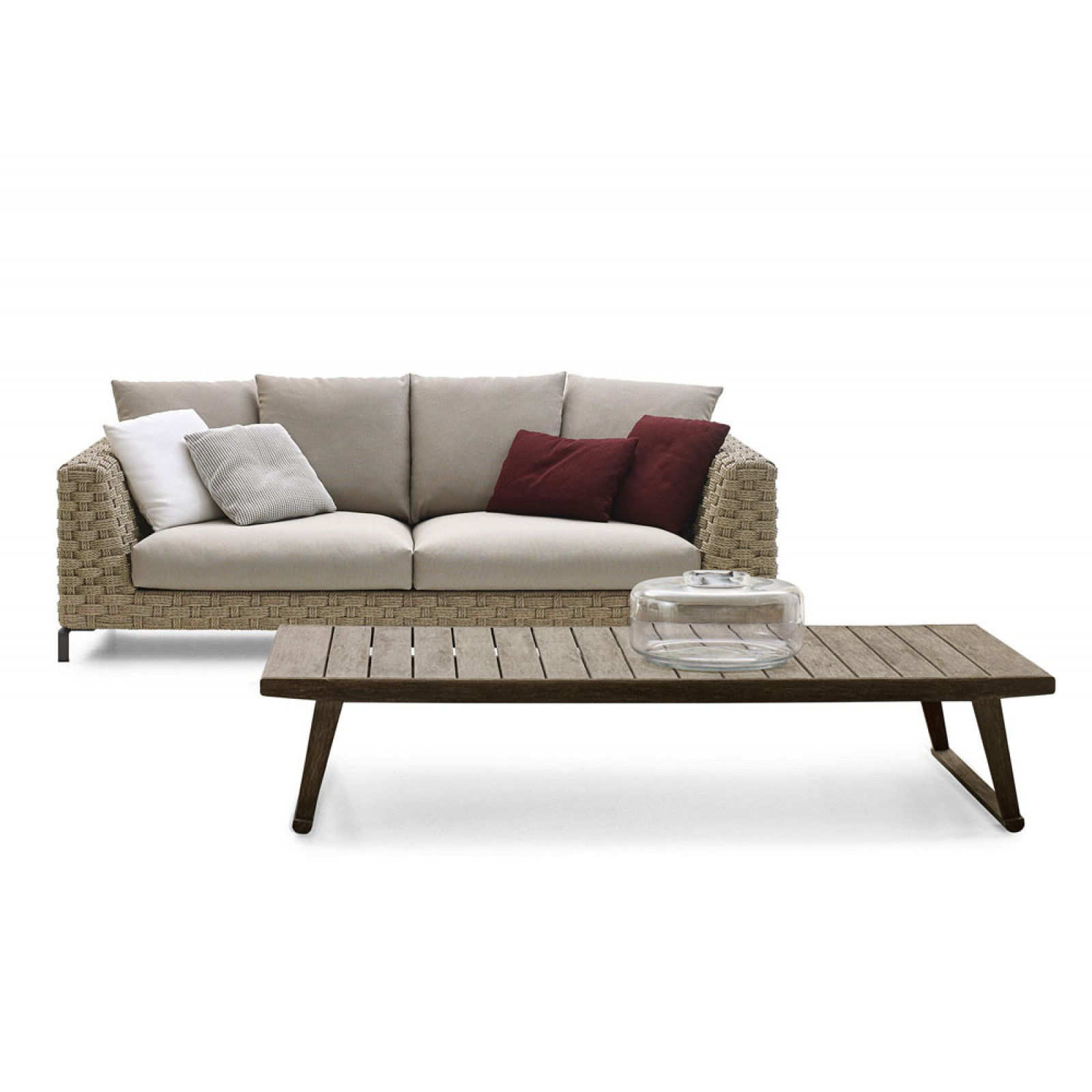 B&B Italia Ray Outdoor Loungesofa 235/6 cm Natural