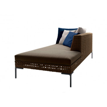 B&B Italia Charles Outdoor Chaise Longue Element rechts 234 cm